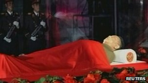 Kim Jong-il lying in state