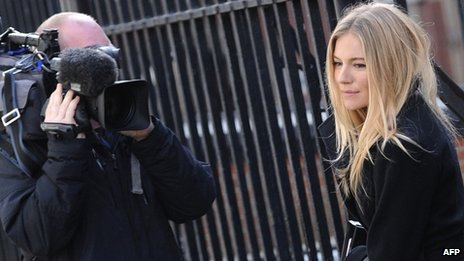 Sienna Miller outside the Leveson inquiry
