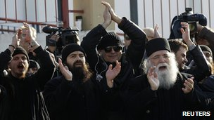 Protest against Abbot Ephraim's detention, 28 Dec 11