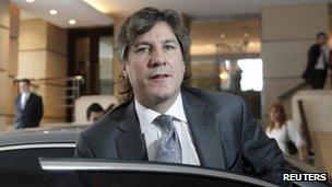 Argentine Vice President Amado Boudou - file photo