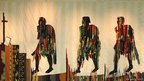 Abdoulaye Konate, Les Marcheurs (The Walkers) 2006, Textile 6.10m x 2.66m  Photo: Jean Francois Cholley, courtesy of the artist