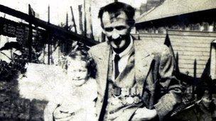 Thomas Lewis displays his medals
