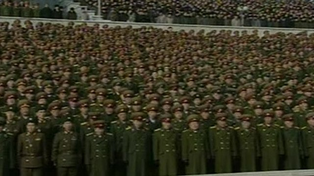 Thousands fill Pyongyang Square in North Korea