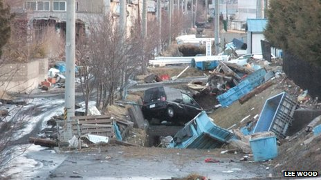 Kuji city tsunami damage. Photo: Lee Wood