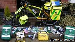 New St John Ambulance bicycle