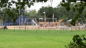 Holywells Park play area