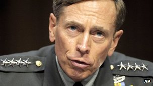 Gen David Petraeus testifies on Capitol Hill in Washington 23 June 2011