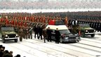 Kim Jong-il's funeral cortege is driving through Pyongyang (28 Dec 2011)