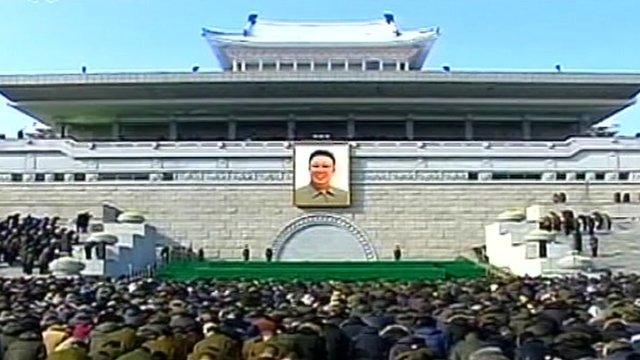 memorial ceremony for his late father, Kim Jong-il.