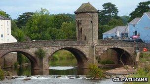 Monnow Bridge in Monmouth