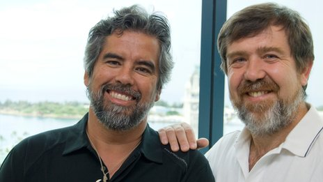 Henk Rogers and Alexey Pajitnov, owners of the Tetris Company 29 December 2011