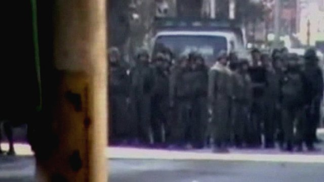 Believed to be Syrian soldiers in Damascus