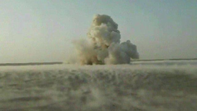 The explosion in the desert