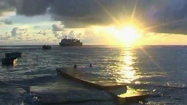 Samoa sea scene