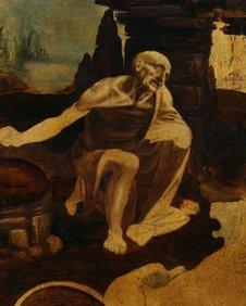 St Jerome painting by Leonardo da Vinci