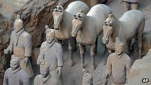 Terracotta army soldiers in Xian (file photo)