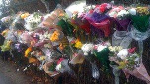 Flowers at Monkmoor recreation ground