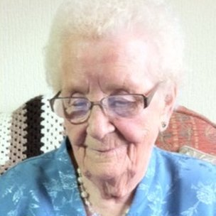 Ninety-two-year-old Ruby Parkes reads the letter informing her of the honour