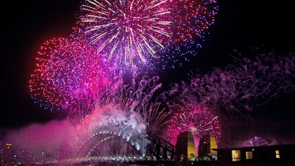 Fireworks over Sydney Harbour Bridge. Photo: Chrissie Thoo