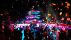 New Year revellers in Beijing