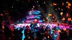 New Year revellers in Beijing