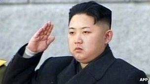 "This tv grab taken from North Korean TV on 28 December 2011 shows Kim Jong-Un saluting during his father Kim Jong-Il""s funeral at Kumsusan Memorial Palace in Pyongyang"