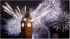 Fireworks over the Houses of Parliament