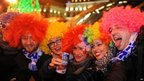 Spaniards gather to celebrate the beginning of the New Year in Puerta del Sol in Madrid
