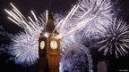 Fireworks light up the London skyline and Big Ben just after midnight on January 1, 2012 in London, England.