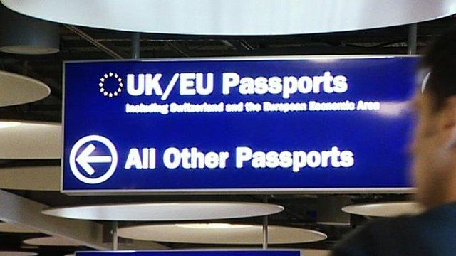 UK Border sign