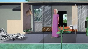 Beverley Hills Housewife by David Hockney