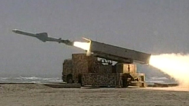 Iranian state TV apparently showed the missile launch