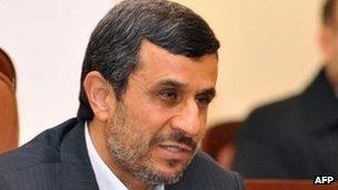 Mahmoud Ahmadinejad (December 2011 photo)