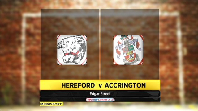 Hereford 1-1 Accrington Stanley