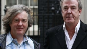 Top Gear presenter James May and Jeremy Clarkson
