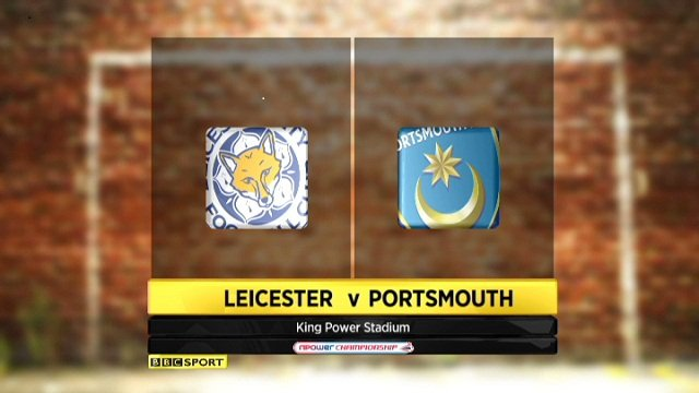 Leicester 1-1 Portsmouth