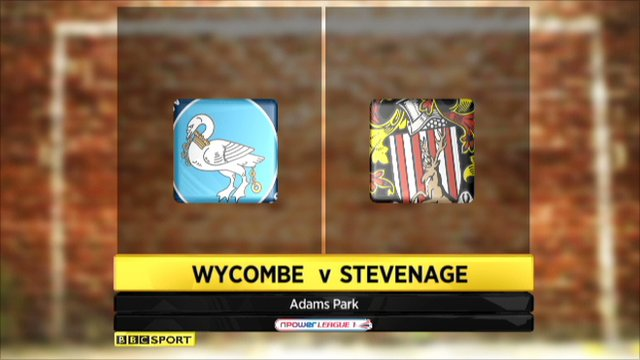 Wycombe 0 - 1 Stevenage
