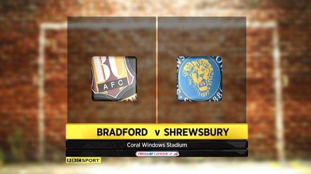 Bradford 3-1 Shrewsbury