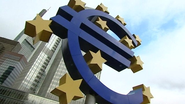 The euro symbol outside the ECB in Frankfurt
