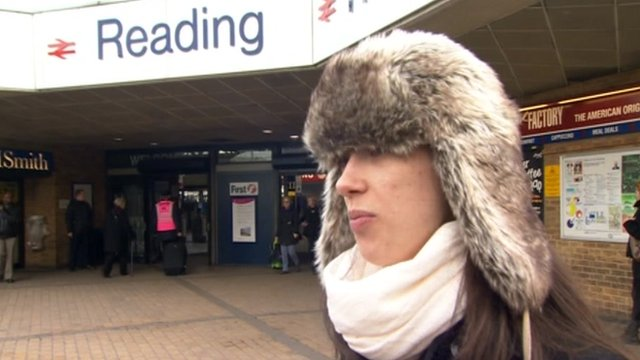 Passenger at Reading station