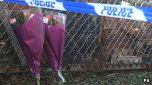 Flowers at scene of Peterlee deaths