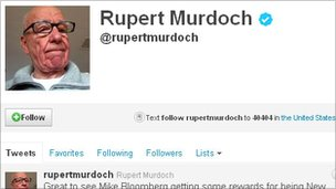 Rupert Murdoch&#039;s Twitter account