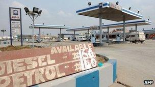 Nigerian petrol station (02/01/12)