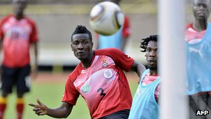 Ghana&#039;s Black Stars training