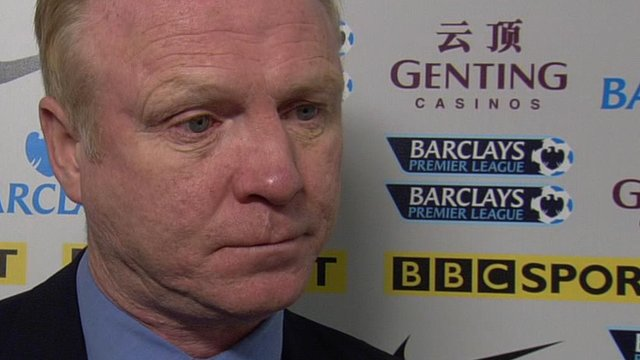 Aston Villa boss Alex McLeish