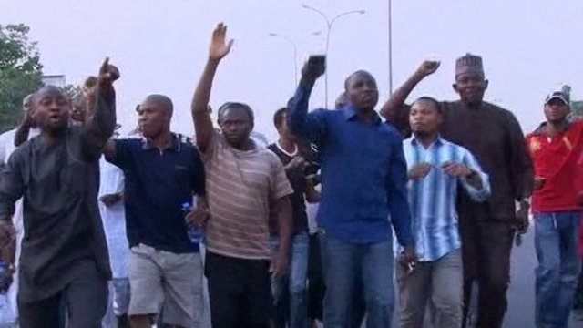 Protesters in Abuja
