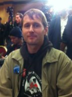 Ron Paul supporter Dan Jones at a campaign event 2 January 2012