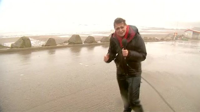 Louise Hubball reports from Cornwall in high winds