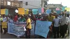 Marchers in Lagos