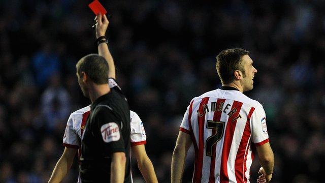 Southampton's Rickie Lambert sent off